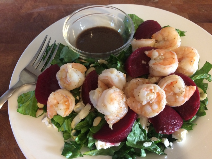 Shrimp and Beetroot Salad